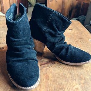 Splendid Black Suede Slouchy Boots 6.5